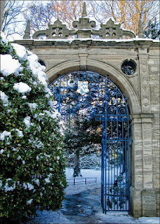 Frosty Gate, Oxford University, England