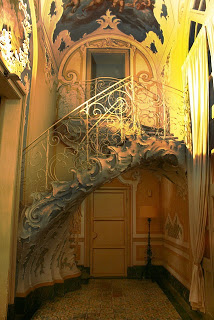 Ornate Staircase, Sicily, Italy